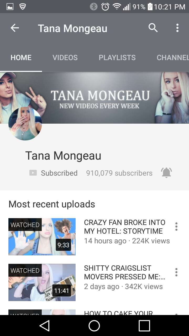 10. Tana Mongeau -storytime This is the queen! I swear you will laugh so much! she's extremely vulgar but it works and if you were to just watch one of these girls it should be her!