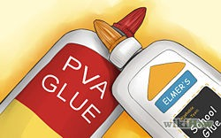 Acquire some simple non toxic glue. You can use the type you would have used for elementary school art projects, such as P.V.A glue or Elmers glue.