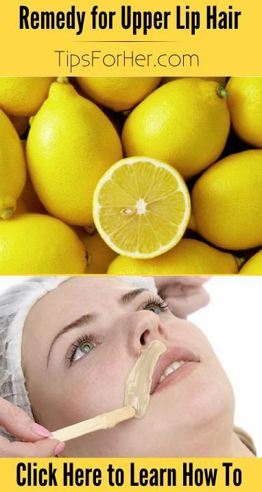 Remedy for Upper Lip Hair    Remedy for Upper Lip Hair Waxing is painful and shaving your face isn't recommended.  This remedy naturally bleaches your upper lip hair leaving it less noticeable.  Add these items together: 1 tsp. Honey 1/2 tsp. Lemon Juice 1/2 tsp. Sugar 1/2 tsp. Water  Combine items
