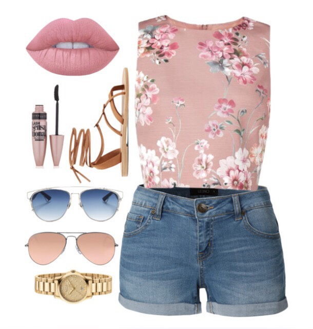Lipstick: Velvet Teddy Matte(exact product) Target: Maybelline Sensational Mascara(exact product) Shoes: H&M Shirt: Pacsun Shorts: Hollister Sunglasses: Urban Outfitters Watch: Michael Kors (These items are not directly at the store but have very similar items from these in the picture😊)