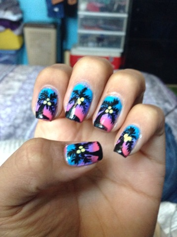 🌴🌅 my Nails