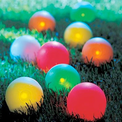 Or give the kids glow in the dark balls to play with