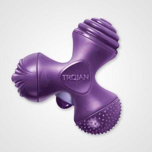 Trojan Vibrating Multi-Thrill  Consider this the Swiss Army knife of vibrators. It comes with three different textures so you can switch things up whenever you want. $24.99; TrojanVibrations.com