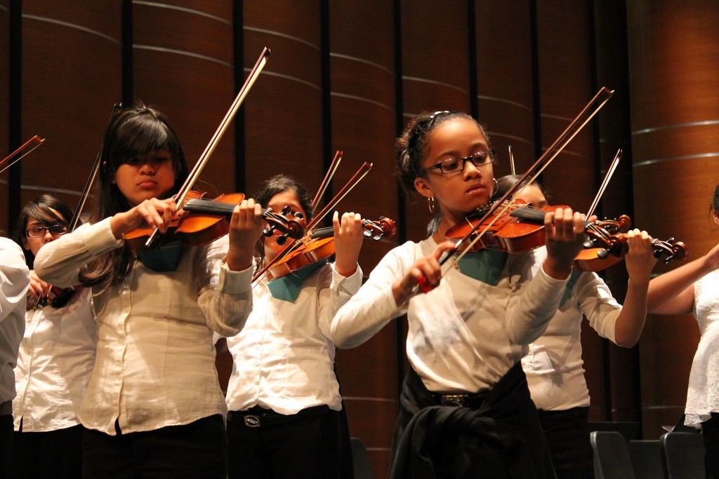Something amazing happened in the program this year - violinists, Monica Balleza and Kimberly Caballero, and bassist Draylen Mason earned spots in the Sacramento Youth Symphony Summer Chamber Music Workshop - a highly intensive music program in chamber and orchestral classical music.