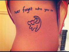 """""""Never forget who you are"""" Yes, this is an adorable quote from The Lion King. But it's also something we should always remember! If this quote doesn't it do it for you but you're still a fan of Disney (and may even have a Disney quote in mind) you could switch it up with another beautiful quote."""