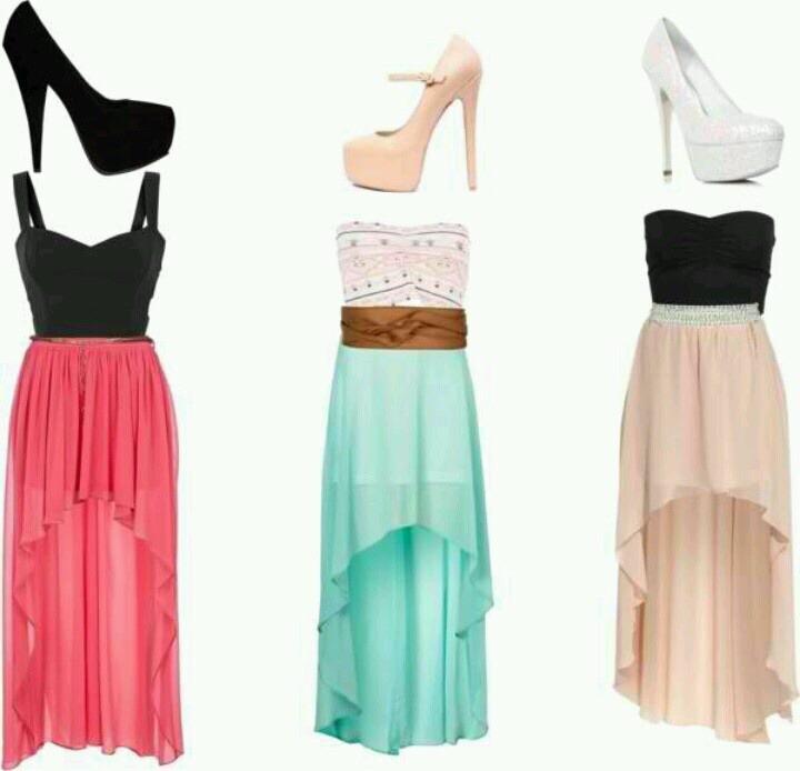 Evening style dresses