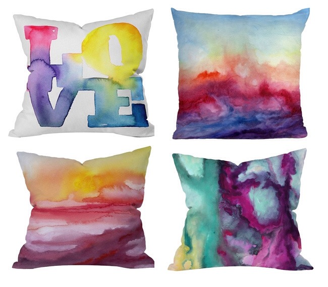 Draw on fabric with Sharpie, then spray with rubbing alcohol for this effect.