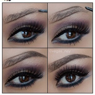 Don't overdraw your brows. It looks to fake in my opinion. Instead try using any small brush and whatever you use to fill in your brows like gel, eyeshadow, pen, etc and just quickly swipe it across your brows for a bolder but not to much look