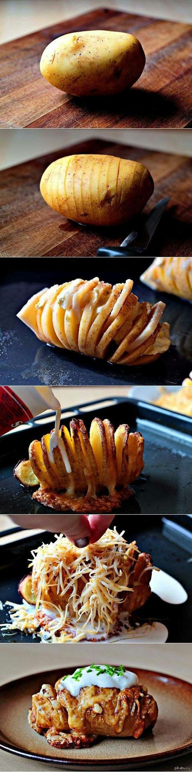 Slice up a potato then add your toppings before baking.