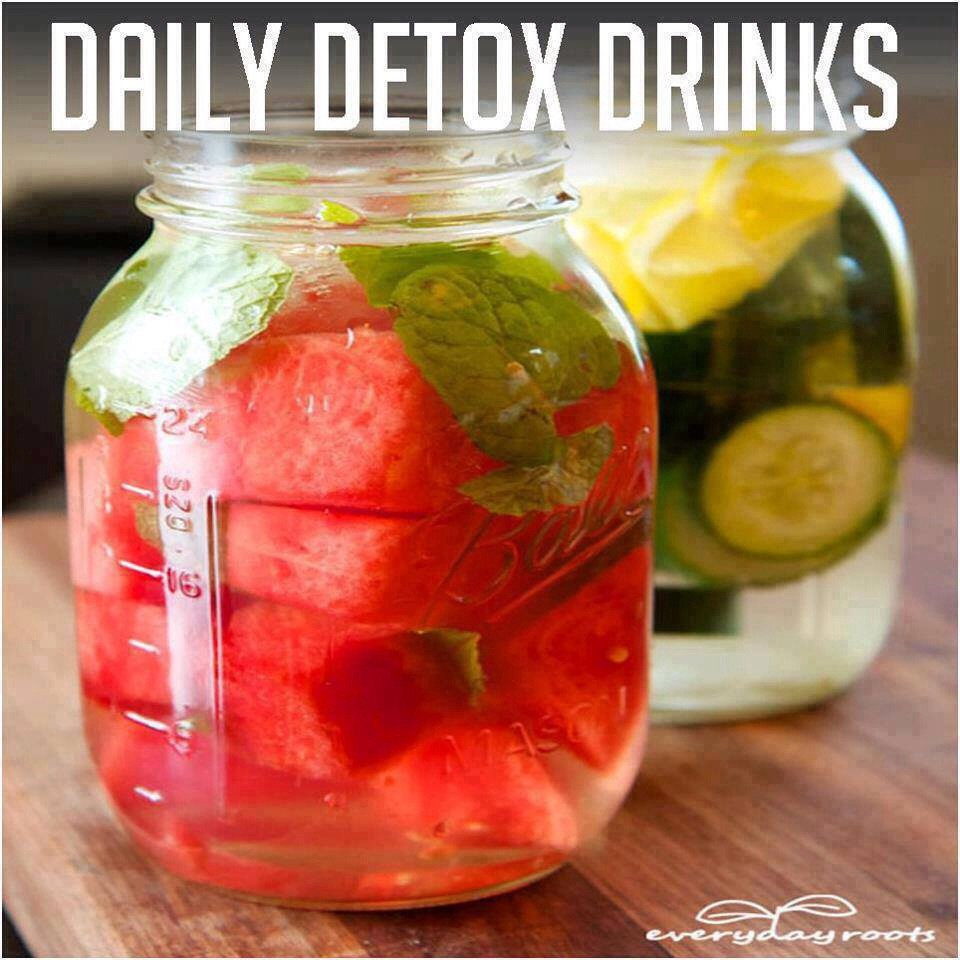 Whether you're just trying to steer clear of the sugary drinks, or aim to really help your body flush out any toxins lurking in your system, this refreshing blend of foods and flavors will satisfy your tastebuds needs.  Ingredients : Watermelon/cucumber, lemon/lime, mint leaves, and water.