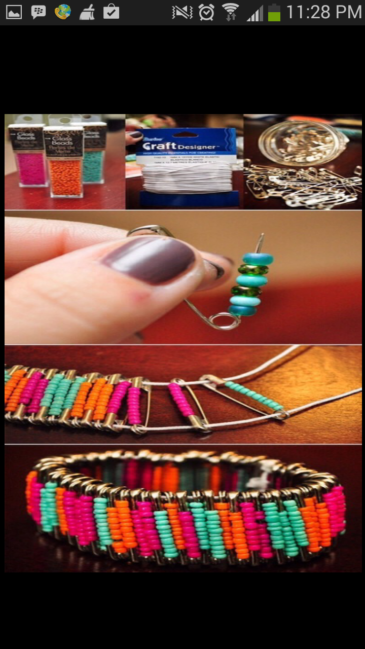 DIY make a bracelet in 2 minutes only