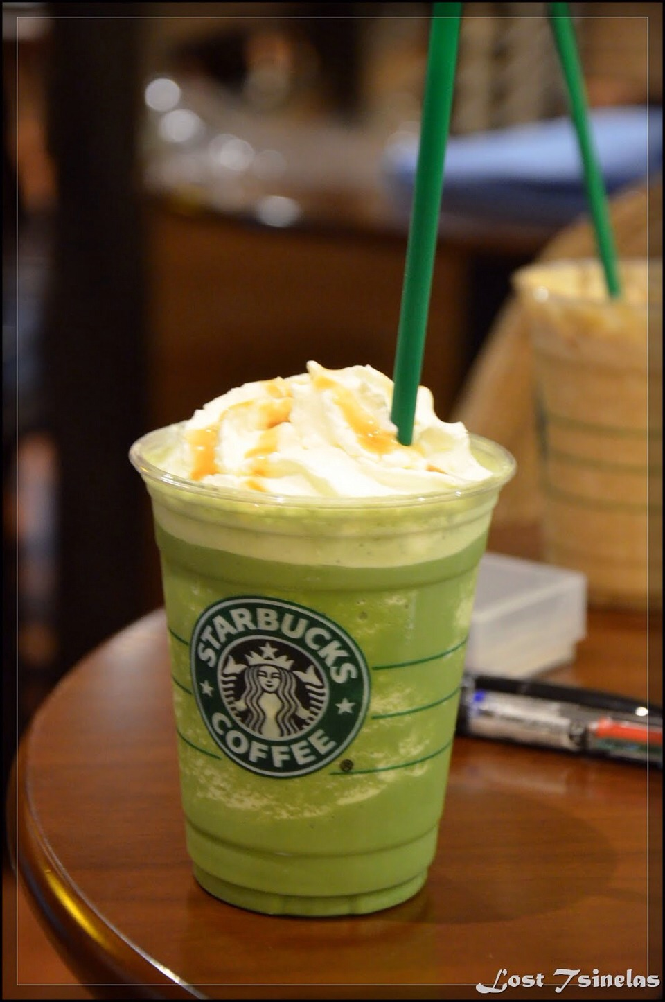 Pistacho ice cream frap recipe!!!!  Ask for:  No classic syrup Pumps of hazelnut(1 for tall, 2 for grande, 3 for venti) Pumps of toffe nut (1 for tall, 2 for grande, 3 for venti)  Enjoy!!!!!