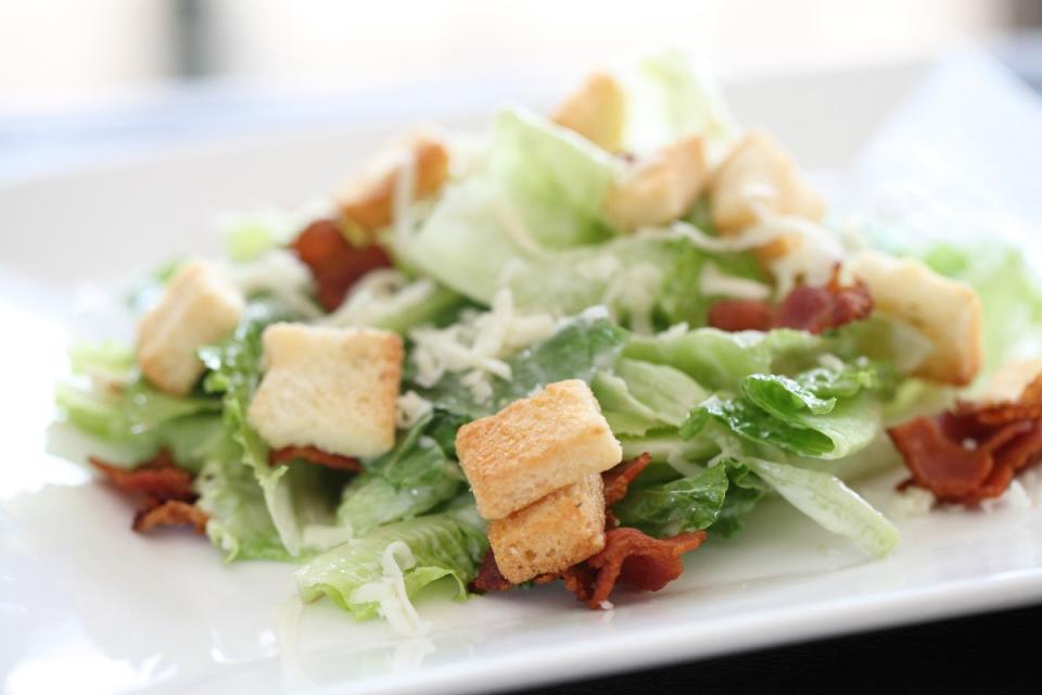 7. B.L.T. Salad with Basil Mayo Dressing