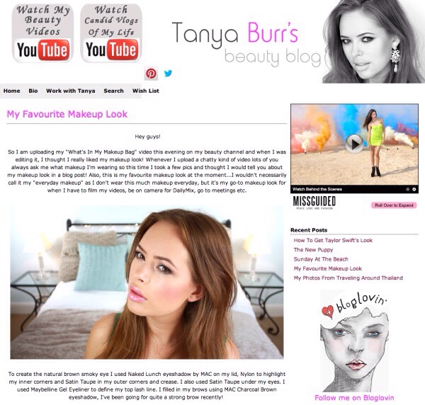 "1️⃣3️⃣ Tonya Burr's Beauty Blog: ""created by YouTube beauty guru Tanya Burr, and it's her home for all beauty posts. Detailing her favorite beauty looks and demonstrating how to get famous hairstyles (like Taylor Swift's), Tanya's blog has become a go to for the Millennial generation."""