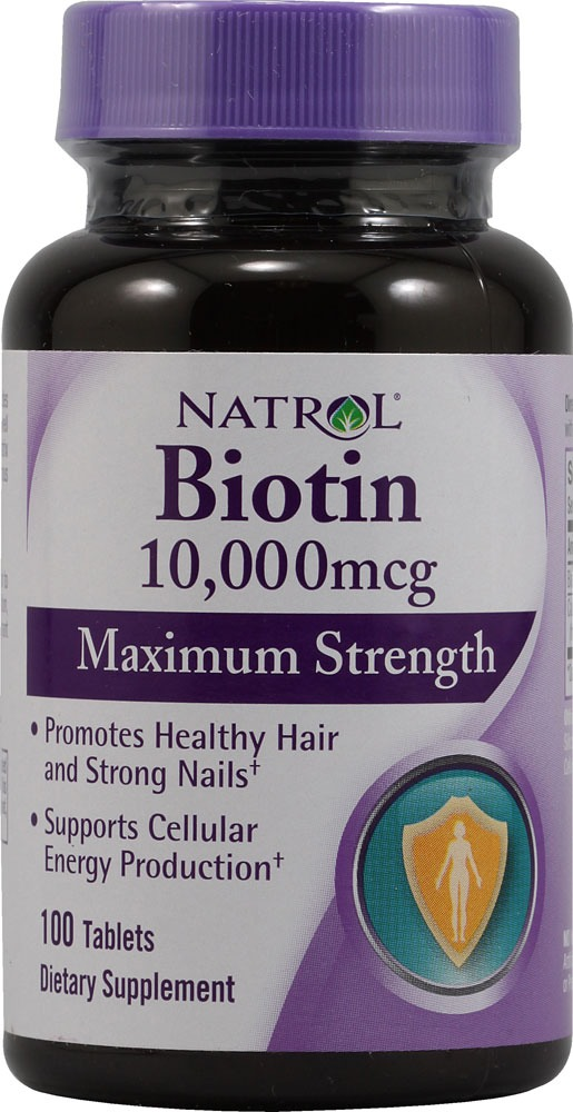 Biotin vitamins help for strong hair and heathy nails.