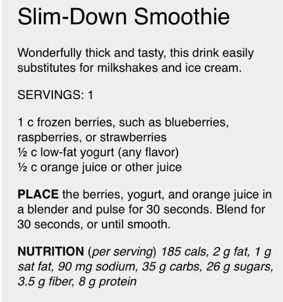 Slim down berry smoothie 💁🏻