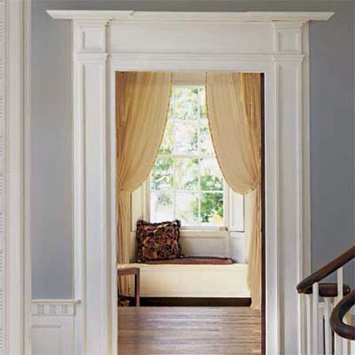 Bulk Up Door Trim  How to do it: Build up a wimpy entry door casing in your foyer with applied moldings to create a more substantial first impression of your home.  Thanks for looking. Please don't forget to like and follow. Click my profile pic to see all my tips.