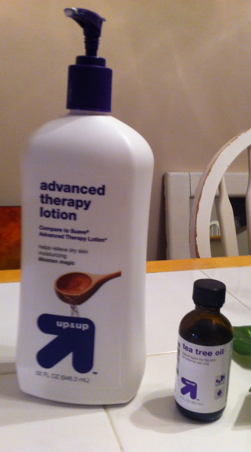 Winter can be killer on your scalp.   All you need is tea  tree oil and regular lotion. Which I got from Target.  You can use some sort of dropper to apply the oil to the scalp. Rub it in then apply lotion. Let it sit over night.   Do not use if you plan on going somewhere! Hair looks greasy!