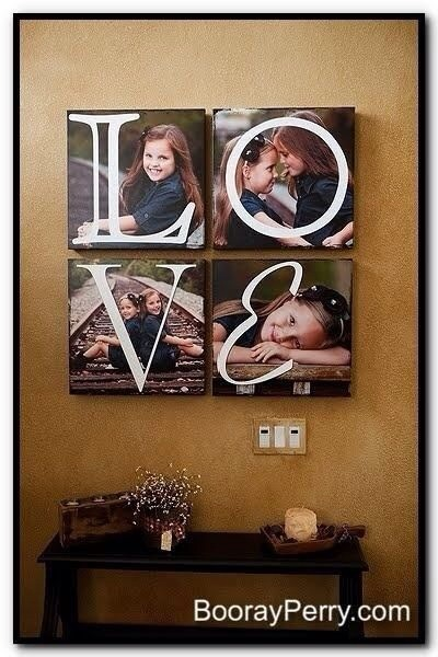 I love this idea.   Be great with wedding pics too