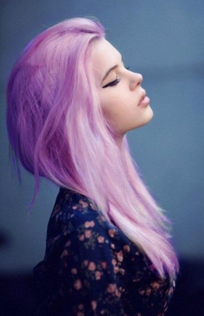 19. Purple Pastel Dyed Hair: