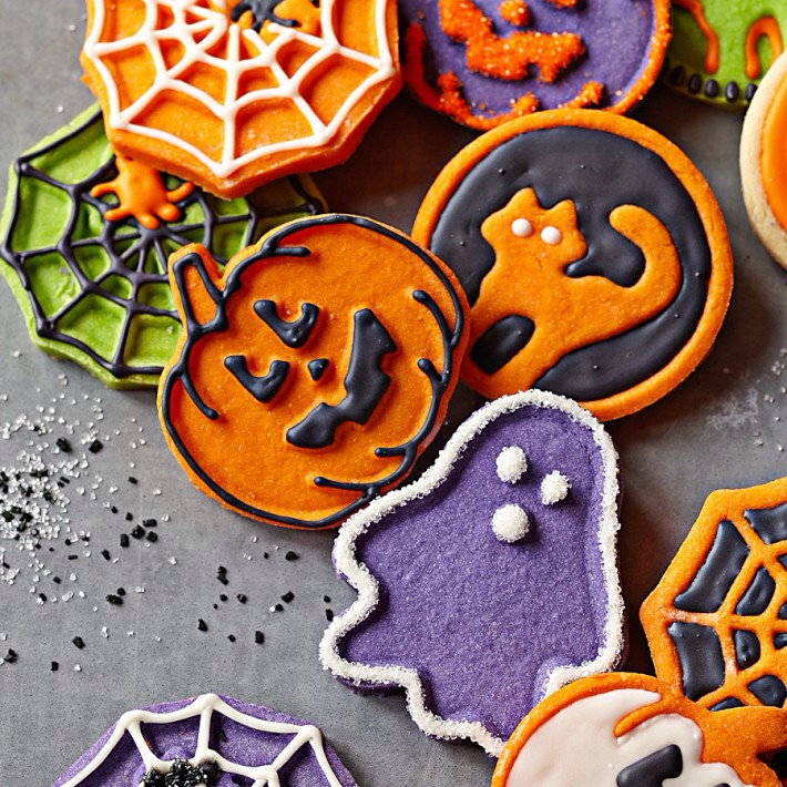 You could bake some cute Halloween themed cookies