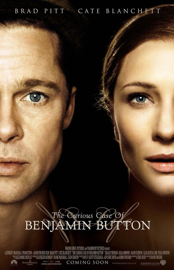 The Curious Case of Benjamin Button. This is probably my all time favorite book turned into a movie. It is worth watching even if it doesn't seem like your thing when you read the plot summary because it's about love and fate and it has Brad Pitt in it.