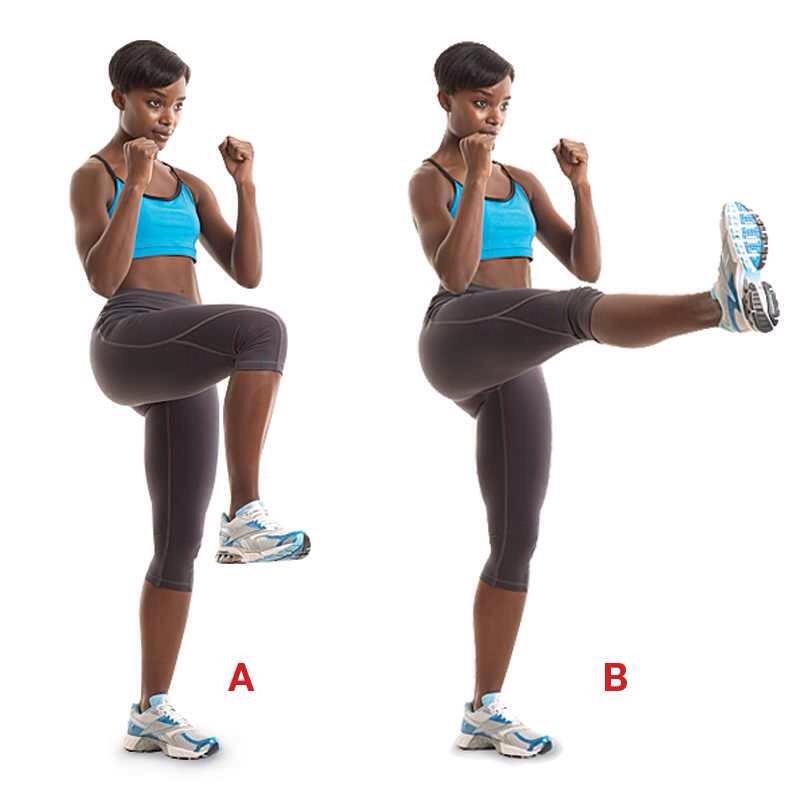 25 high knee kicks (each leg)