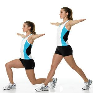 Scissors Jump  Tones: Butt and thighs; raises heart rate to burn extra calories
