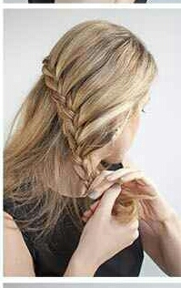 Step 6: Finish first side braid & tide at end.