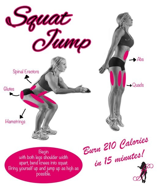 Do squat jumps! Very effective and you'll feel the burn! Totally worth the pain.
