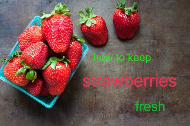When you return home from the market, check any berries for mold and then be sure to throw away any moldy berries. Also, don't wash your strawberries or take off their green stems. You only want to wash your strawberries right before you're ready to use.