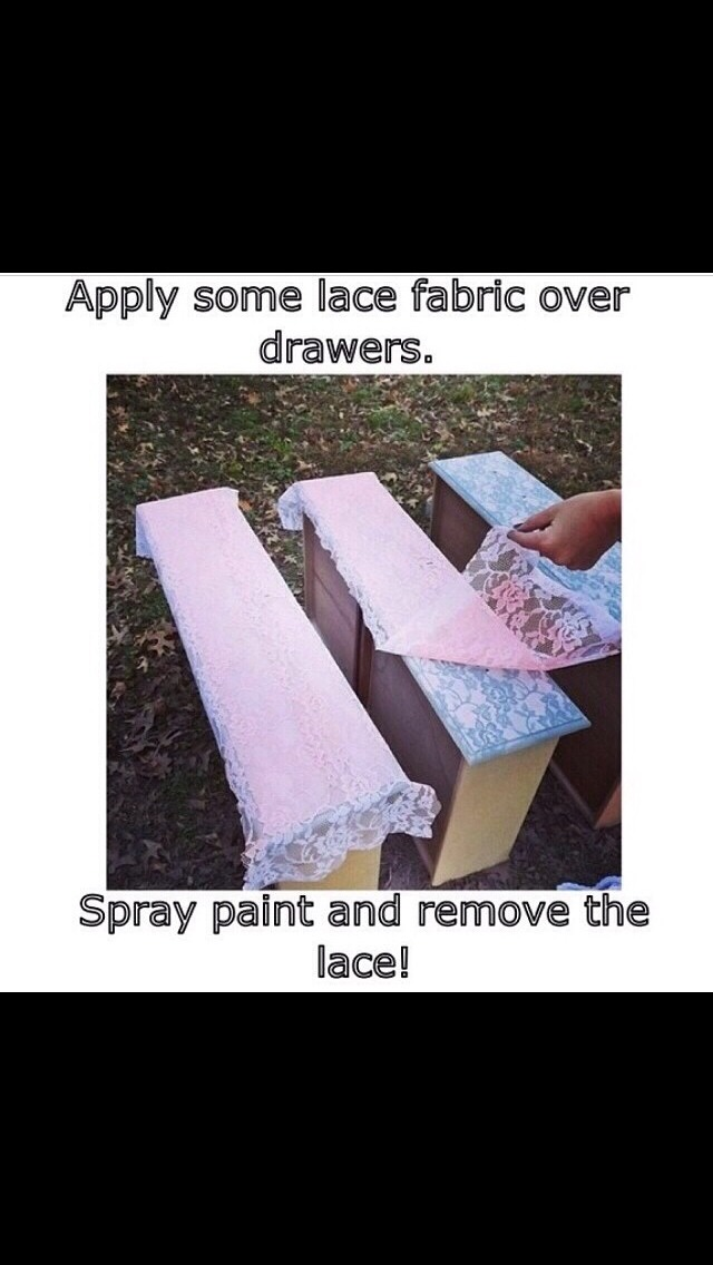 Super easy and cute lace furniture Musely