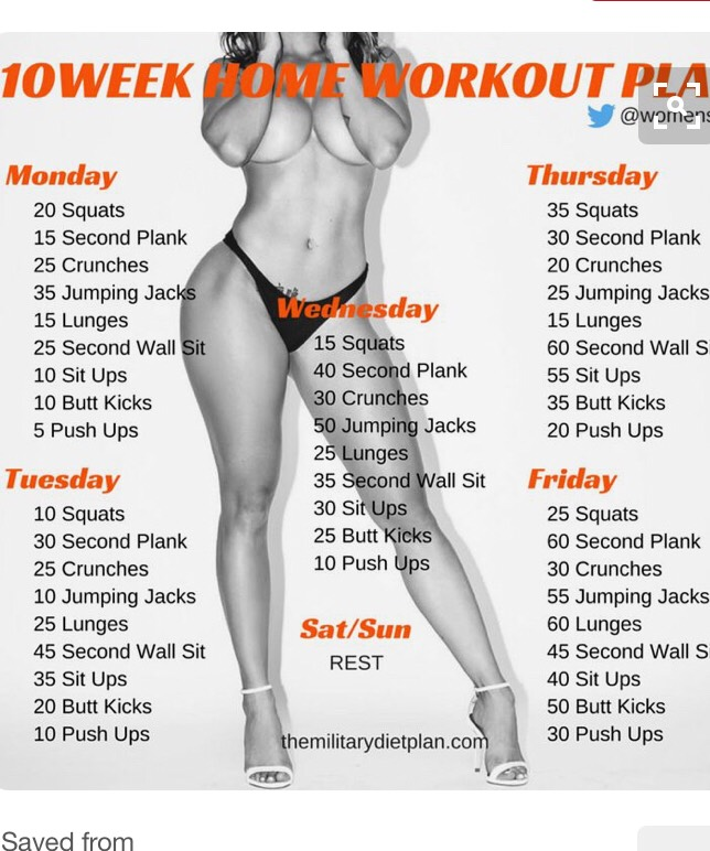 Great at home workout plan!