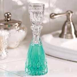 13. Put your mouthwash in a decanter. Adds a touche de classe to any bathroom sink.