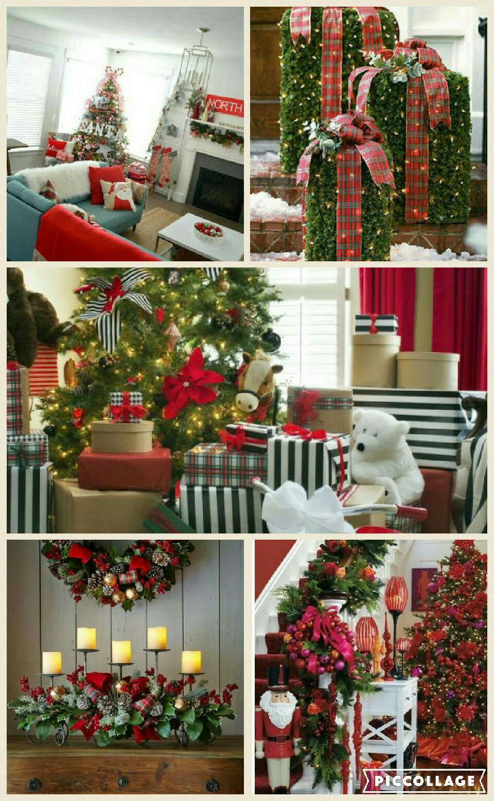 Pretty Christmas Decor in Red and Green.