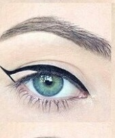 Then I usually leave the tape on and fill in the rest of the eye