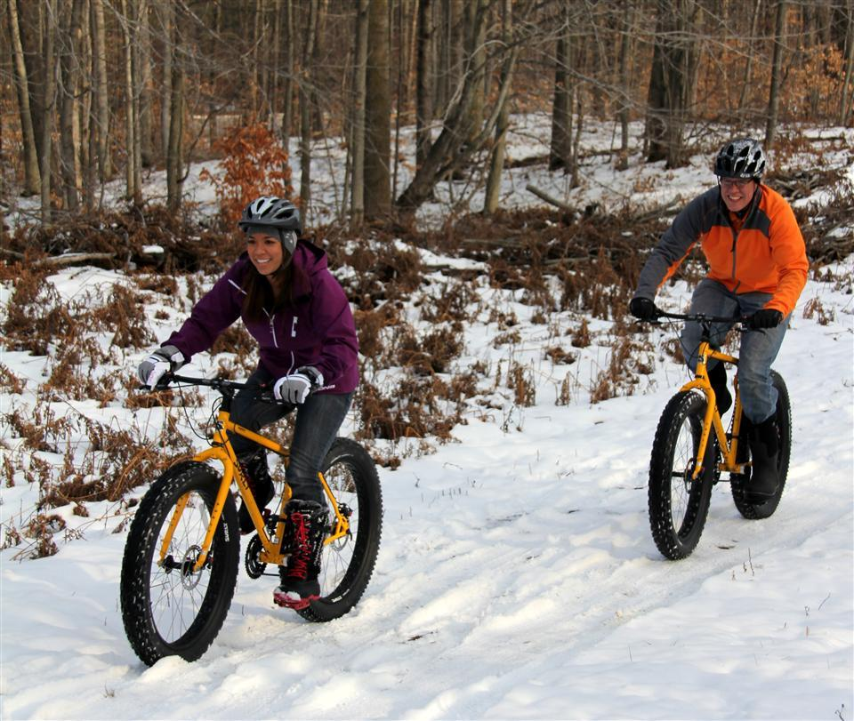 Fat-Tire Biking: If you haven't tried this fast-growing cycling sport, you should. You can burn up to 1,500 calories an hour—or nearly 25 calories per minute—pedaling the heavy, hard-to-turn monster bikes and tackling all types of terrain, all year round.