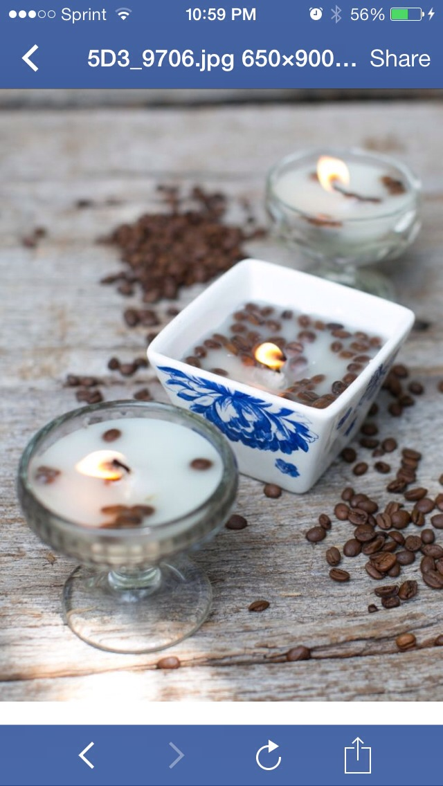 The scent of vanilla and coffee beans together instantly warms up the house in these French vanilla candles. Candles look great in just about any container so experiment with different glasses or jars that fit your aesthetic.