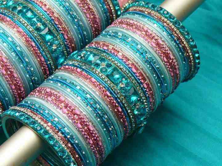 One can never have too many colorful bracelets to accent an outfit.