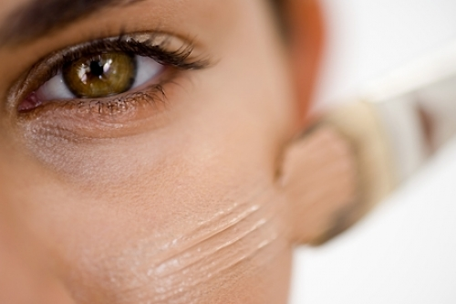 3. Foundation If you must use it, go light and sheer. The heavier your foundation base is the more likely it will cake. Try using a tinted moisturizer and concealer along with a light foundation for the summer months.