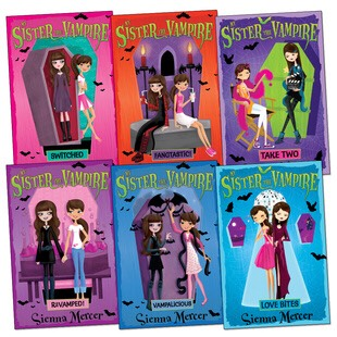 My sister the vampire  These books look like they are aimed at younger kids however they are not. I admit it is not as adult as some people like but the story line is great and the journey of two completely different twins meeting and finding out each other's secrets is amazing.