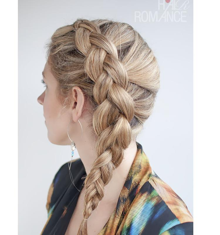 A Dutch braid is also known as a reverse braid or inside out braid. It's the same technique as a French braid but instead of crossing the sections over, you bring them underneath and into the middle. Each time you add in hair from the side and you bring a section underneath into the middle.