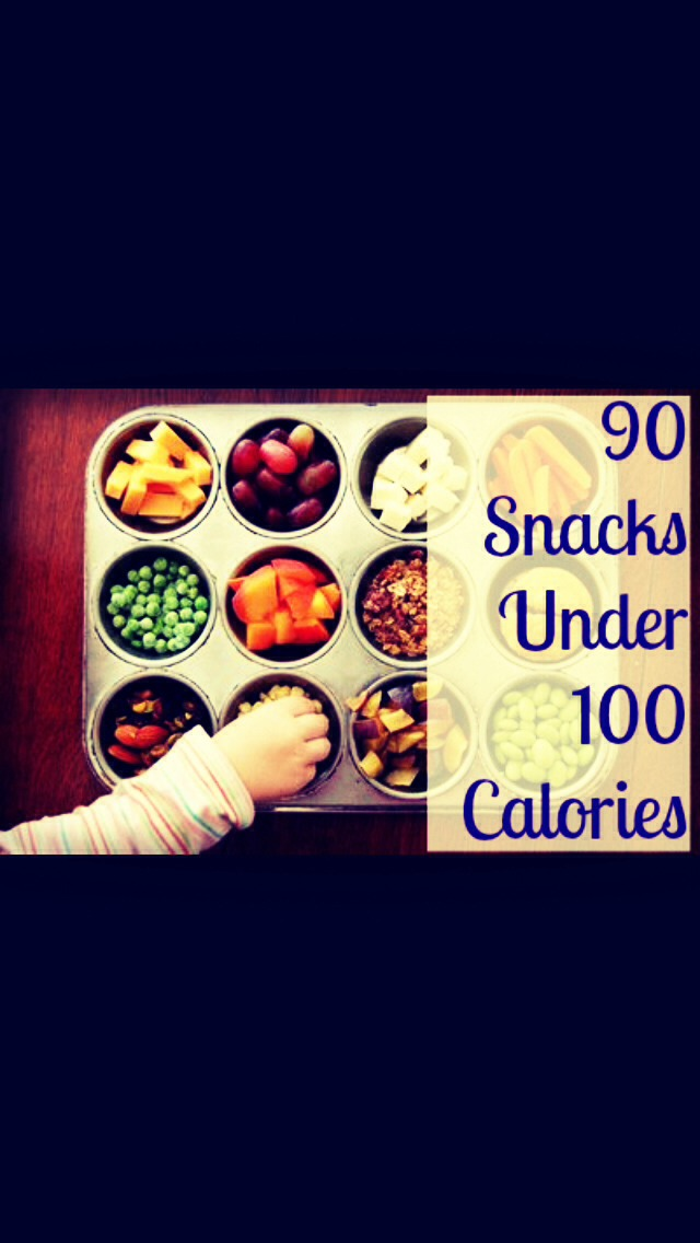 At the beginning of the week set some snacks in 100 calorie (or serving size) of healthy snacks such as fruit like apples or melons, trail mix, almonds, yogurt, etc. when you get hungry during the week just grab one of your snacks that is already measured out for you!