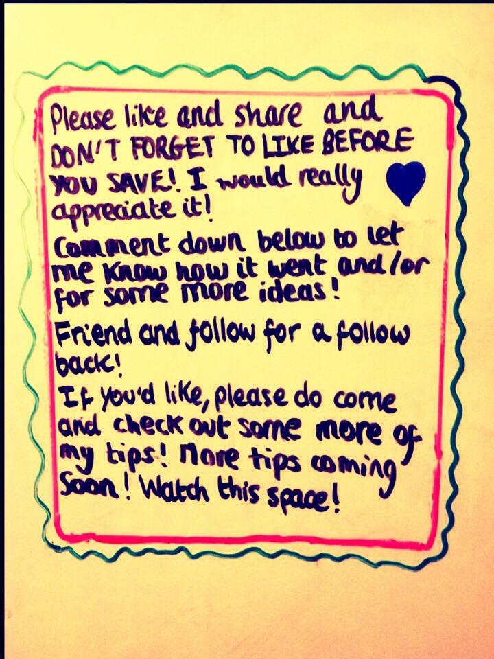 Please like before saving!
