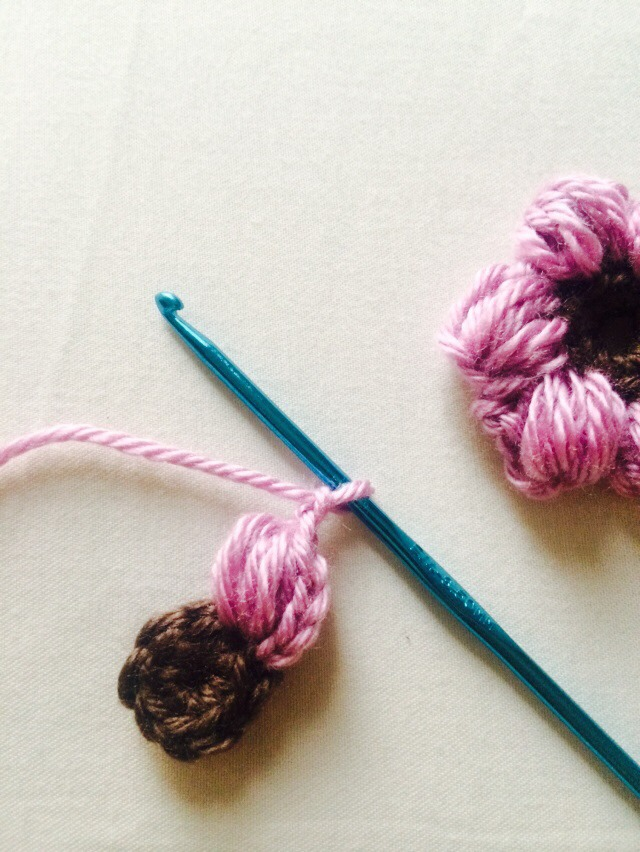 Yarn over hook, pull through all loops on hook than chain 2.