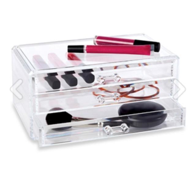 Richards Homewares Clear 3-Drawer Cosmetic Organizer, $14.99, bedbathandbeyond.com
