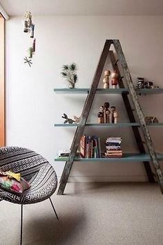 Ladder into a shelf