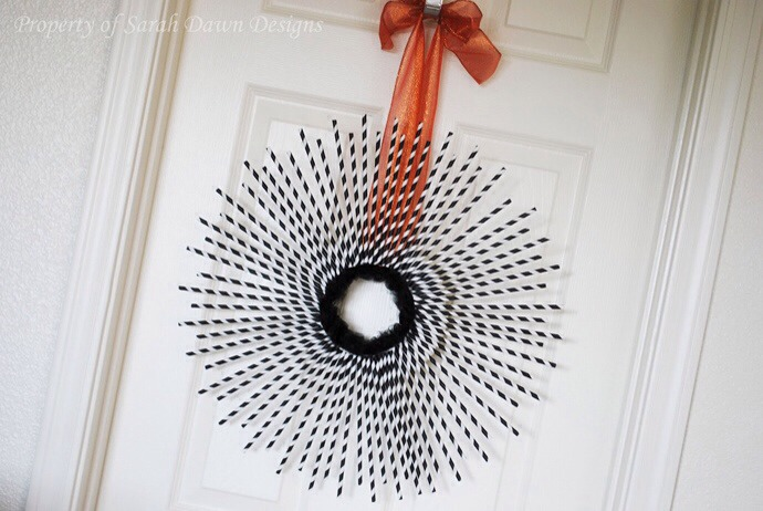 A decorative flower on the door