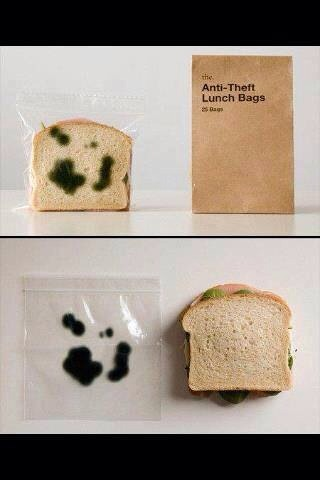 Make a Moldy Sandwich Baggie, with a marker.