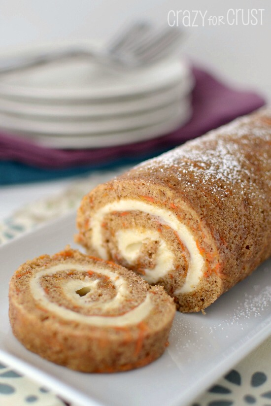 cake roll, that is perfect for Easter. A Carrot Cake Roll.